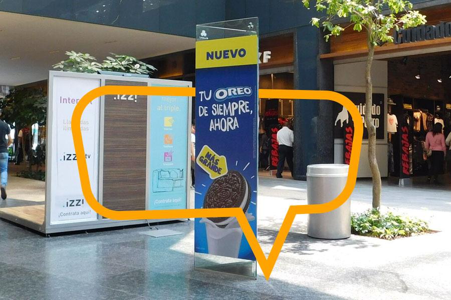 Publicidad en Banner de piso en centros comerciales