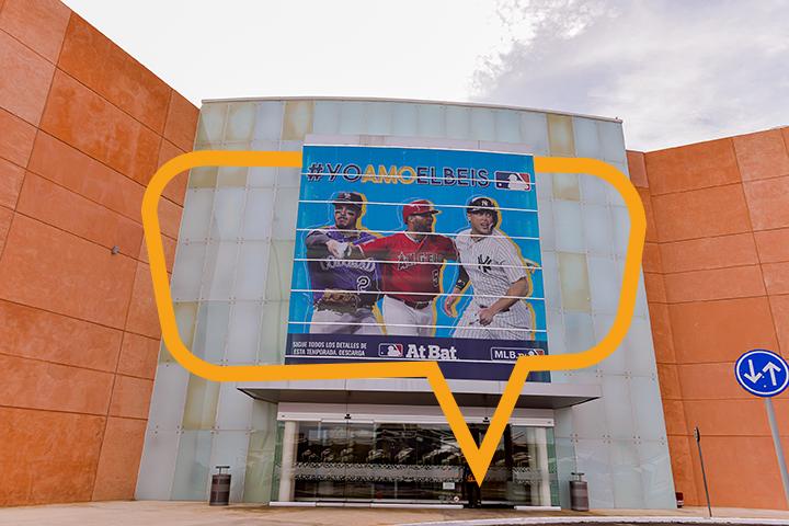 Publicidad en Galerías Mérida- Fachada MLB