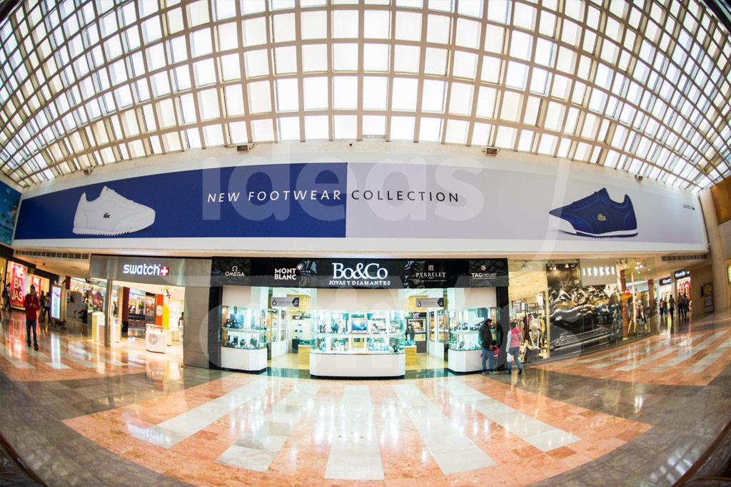 Cenefas publicidad en centros comerciales