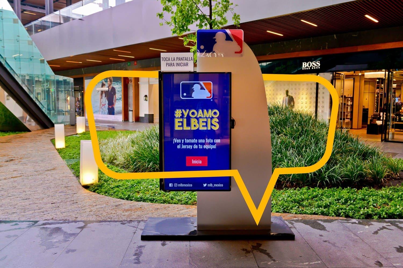 Publicidad en Antea, mampara MLB